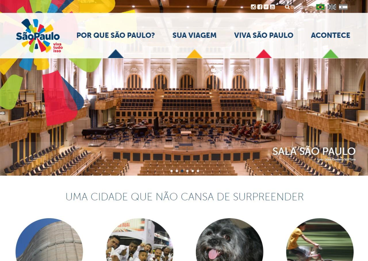 Página inicial do novo site