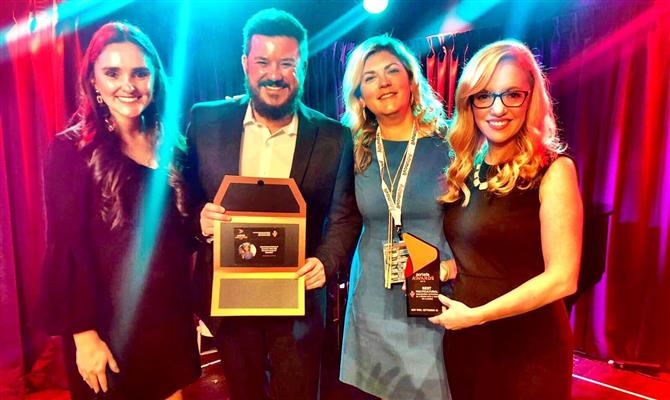 Lina Botero, Marcio Oliveira, Jennifer Adams e Kate Porter no Portada Awards 2018