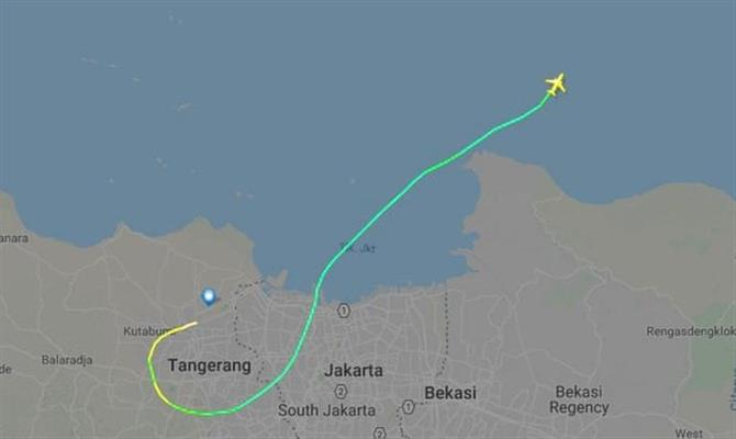 Mapa mostra viagem de 13 minutos do 737 Max da Lion Air antes da queda