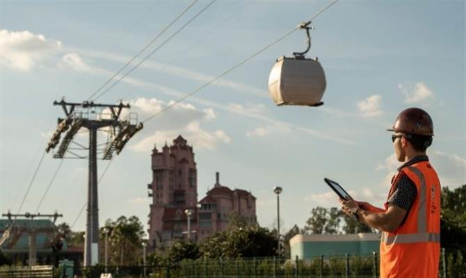 Primeiros testes do Disney Skyliner foram realizados entre o Hollywood Studios e o Caribbean Beach Resort