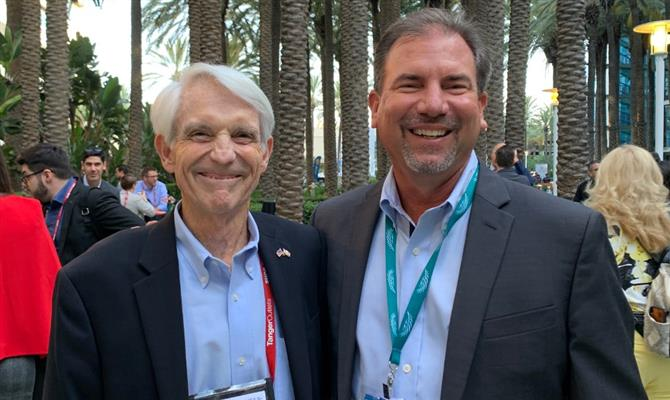 Jack Wert, do Naples, Marco Island and Everglades CVB, e Rich Basen, do Discover the Palm Beaches