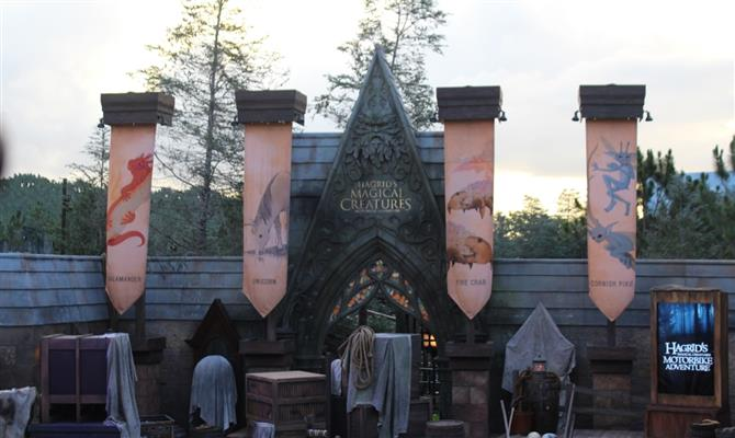 Entrada da Hagrid's Magical Creatures Motorbike Adventure no Islands of Adventure