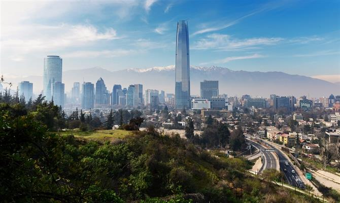 Santiago, capital do Chile, é o principal destino do país andino