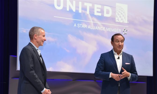 Scott Kirby e Oscar Munoz, da United Airlines